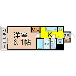 プレサンスSAKAE白川公園II[10階]の間取り