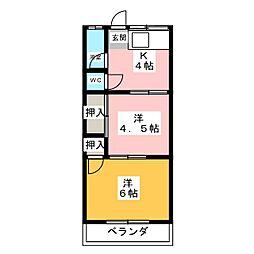 井村荘[1階]の間取り