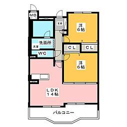 アネックス一宮III[7階]の間取り