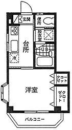 神奈川県伊勢原市桜台5丁目の賃貸マンションの間取り