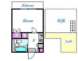 シティアパート大成II[2階]の間取り
