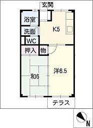 ハイツタマダ[1階]の間取り