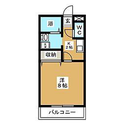 第4アーバンハイツ[2階]の間取り