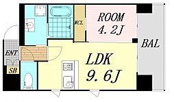 第26関根マンション 13階1LDKの間取り