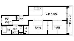 加島第1マンション[402号室]の間取り