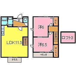 [テラスハウス] 愛知県高浜市芳川町2丁目 の賃貸【/】の間取り