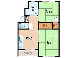 サンワ 浜の宮マンション[3階]の間取り