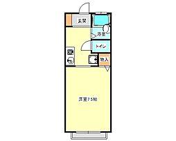 兵庫県神戸市垂水区坂上1丁目の賃貸アパートの間取り