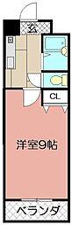 ウインズ浅香I[8階]の間取り