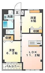 仮)本城新築マンション[2階]の間取り