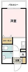 東京都八王子市犬目町の賃貸マンションの間取り