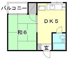 みどり荘[307 号室号室]の間取り