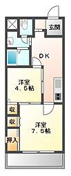 メゾン・オ・ミディ[6階]の間取り