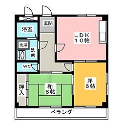 メゾン・ド・フォーレ神山B棟[3階]の間取り