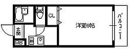 大阪府大阪市住吉区山之内4丁目の賃貸マンションの間取り