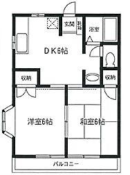 宮崎台ラ・フルール[2階]の間取り