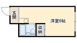 兵庫県西宮市大井手町の賃貸アパートの間取り