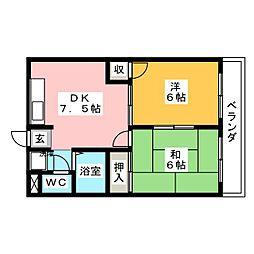 四季の里 高蔵寺館[4階]の間取り