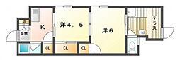 川口文化[1階]の間取り