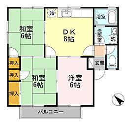 ドミール小林 B棟[2階]の間取り