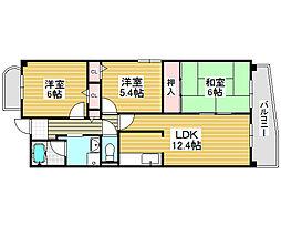 パレ・ルボーノ[3階]の間取り