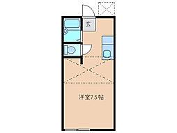 ドエルアルフィー[1階]の間取り