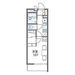 レオパレスGOLD[1階]の間取り