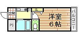 ベルハイム小阪[107号室]の間取り