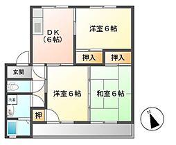 シャンポールアキラ[1階]の間取り