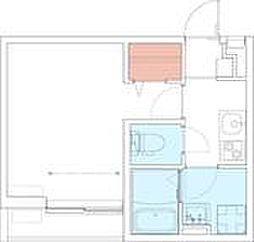 小田急小田原線 本厚木駅 徒歩9分の賃貸アパート 1階1Kの間取り