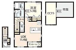 JR赤穂線 大多羅駅 徒歩18分の賃貸アパート 2階1LDKの間取り