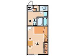 レオパレスグリーンピア太田[1階]の間取り
