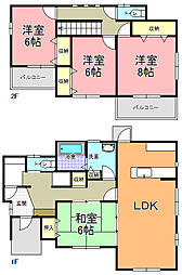 [一戸建] 茨城県ひたちなか市高場 の賃貸【/】の間取り