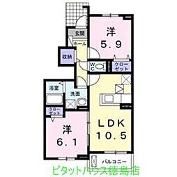 エスポワール I[1階]の間取り