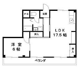 滋賀県近江八幡市日吉野町の賃貸マンションの間取り