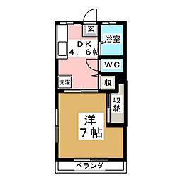 コーポシャルーテ[2階]の間取り