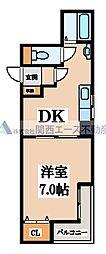 コンチネンタル真田山東[5階]の間取り
