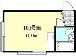新調布ハイツA号館[1階]の間取り