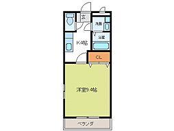 メゾンアムールII[1階]の間取り
