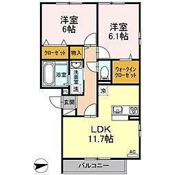 仮)D-room戸田[305号室]の間取り
