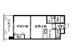 北海道札幌市中央区南三条西13丁目の賃貸マンションの間取り