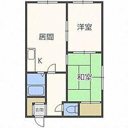 ラフォーレ45[1階]の間取り