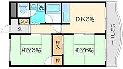 イーストハイム21[2階]の間取り