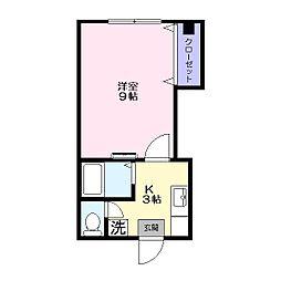 コーポいな田[202号室]の間取り