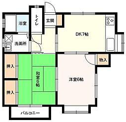 GRAFTON-HOUSE[101号室]の間取り