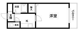 サザンベル岸和田[505号室]の間取り