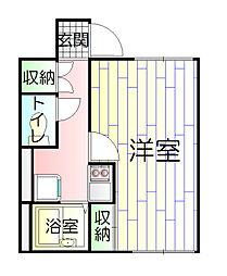 東京都葛飾区新宿2丁目の賃貸アパートの間取り