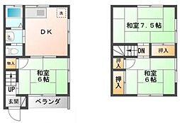 [タウンハウス] 千葉県市川市大和田5丁目 の賃貸【千葉県 / 市川市】の間取り