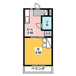 MAISON CRYSTAL(メゾン クリスタル)[3階]の間取り