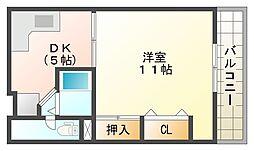 白川台ハイツ[1階]の間取り